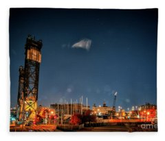 Industrial Chicago Fleece Blanket