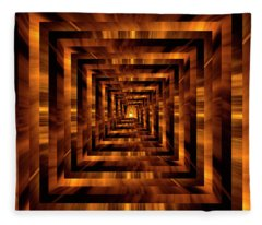 Infinity Tunnel The Light At The End Of The Tunnel Fleece Blanket