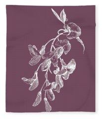 Inflorescence Purple Flower Fleece Blanket