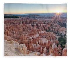 Inspiration Point Sunrise Bryce Canyon National Park Summer Solstice Fleece Blanket