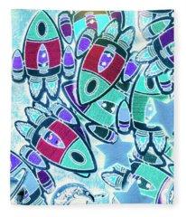 Intergalactic Abstract Fleece Blanket