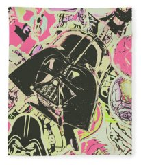 Intergalactic Planetary Pop Art Fleece Blanket
