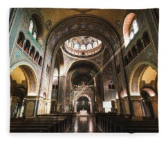 Interior Of The Votive Cathedral, Szeged, Hungary Fleece Blanket