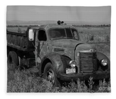 International Dump Truck Fleece Blanket