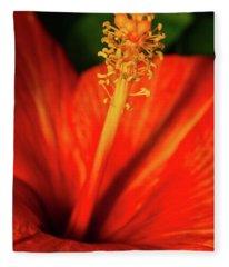 Into A Flower Fleece Blanket