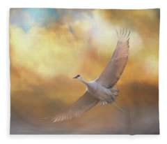 Into The Clouds Fleece Blanket