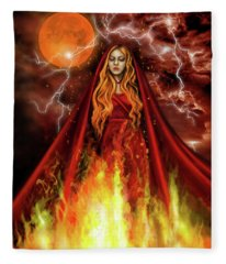 Into The Fire Book Cover  Fleece Blanket