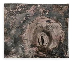 Fleece Blanket featuring the painting Into The Fog by 'REA' Gallery