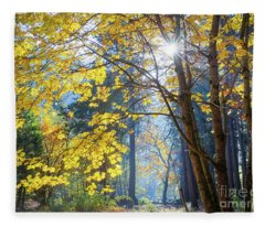 Into The Forest Fleece Blanket
