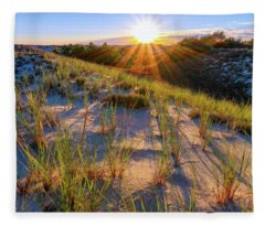 Into The Sun, Crane Beach Fleece Blanket