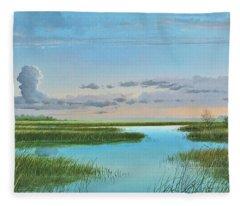 Intracoastal Sunset Fleece Blanket
