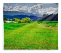 Inviting Airstrip Fleece Blanket