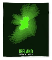 Ireland Radiant Map 2 Fleece Blanket
