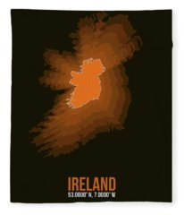 Ireland Radiant Map 3 Fleece Blanket
