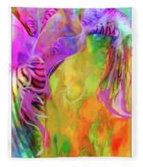 Iris Psychedelic  Fleece Blanket
