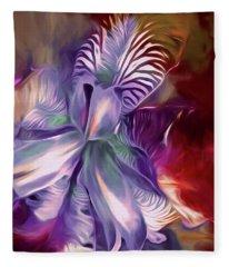 Iris Splendor 12 Fleece Blanket