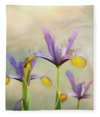 Iris Sunrise  Fleece Blanket