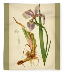 Iris Versicolor Blue Flag Fleece Blanket