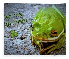 Irish Frog Fleece Blanket