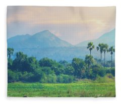 Irrawaddy Landscape Fleece Blanket
