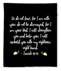 Isaiah 4110 Bible Fleece Blanket
