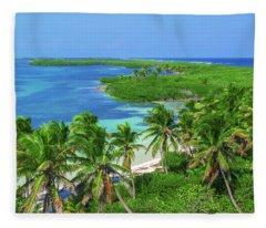 Isla Contoy Fleece Blanket