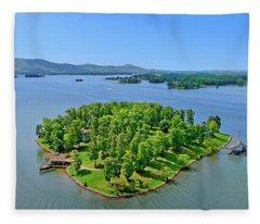 Emerald Island, Smith Mountain Lake, Va. Fleece Blanket