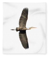 Isolated Great Blue Heron 2018-1 Fleece Blanket