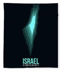 Israel Radiant Map 1 Fleece Blanket