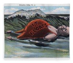 It Floats - Atlantic City Fleece Blanket