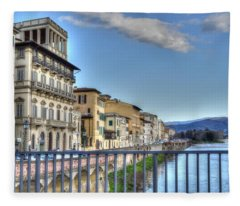 Italy River Fleece Blanket