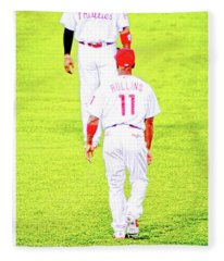 J Roll And The Big Piece, Ryan And Rollins, Phillies Greats Fleece Blanket