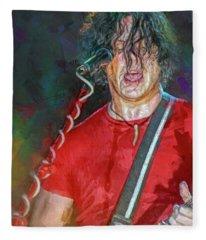 Jack White Musician Fleece Blanket
