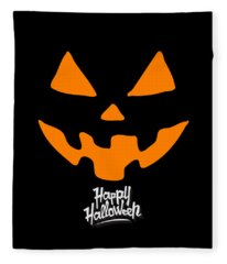Jackolantern Pumpkin Happy Halloween Fleece Blanket
