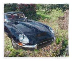 Jaguar E Type Fleece Blanket