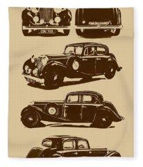Jaguar Mark Iv Ss 2.5 Saloon Fleece Blanket