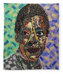James Baldwin The Fire Next Time Fleece Blanket