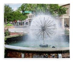 James Brown Blvd Fountain - Augusta Ga Fleece Blanket