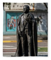 James Brown Statue - Augusta Ga 2 Fleece Blanket