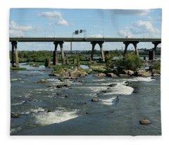 James River Rapids Fleece Blanket