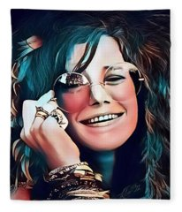 Janis The Rose Fleece Blanket