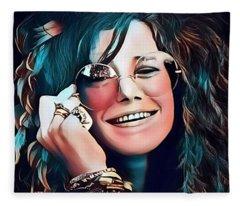 Janis The Rose Fleece Blanket