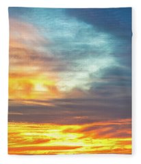 January Sunset - Vertirama Fleece Blanket