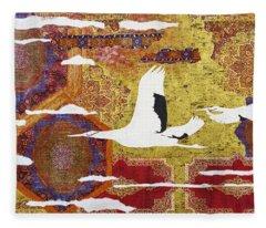 Japanese Modern Interior Art #131 Fleece Blanket
