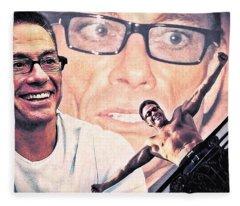 Jean-claude Van Damme Fleece Blanket