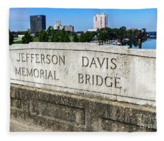 Jefferson Davis Memorial Bridge - Augusta Ga Fleece Blanket