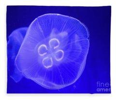 Moon Jellyfish Fleece Blanket