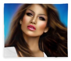 Jennifer Lopez Fleece Blanket