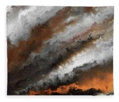 Jeremiah 20 9 Fire In My Heart Fleece Blanket