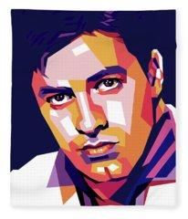 Jerry Lewis Illustration Fleece Blanket